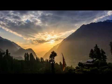 Himalayan mountain sunset Time Lapse 4K