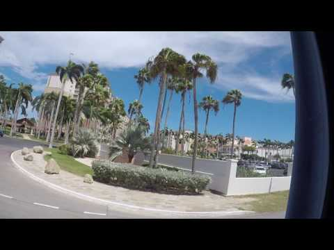 Aruba tour bus ride from Port to Arishi Beach
