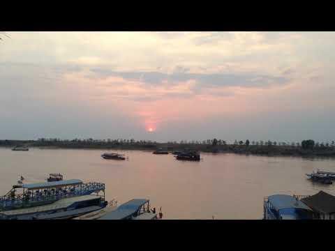 Time-Lapse Sunset at Chong Khneas Port – Siem Reap